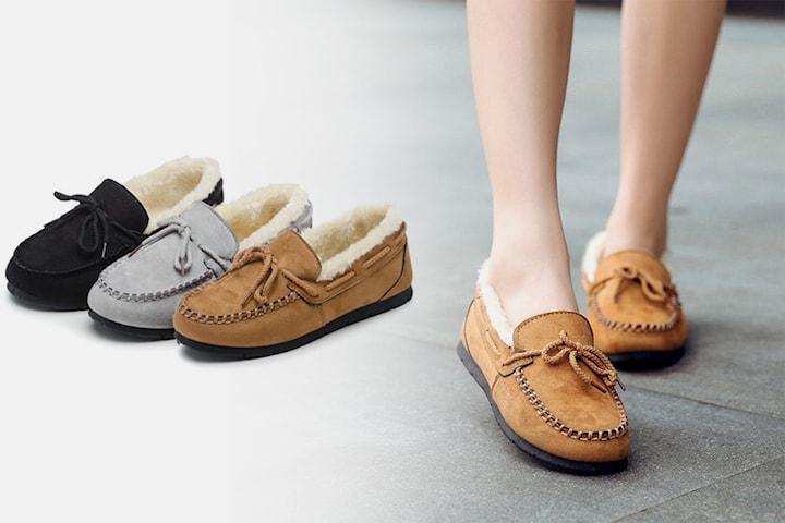 Fuzzy loafers dam