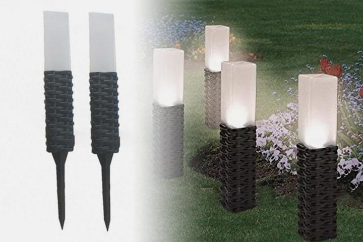 LED-solcellslampa 2-pack eller 4-pack