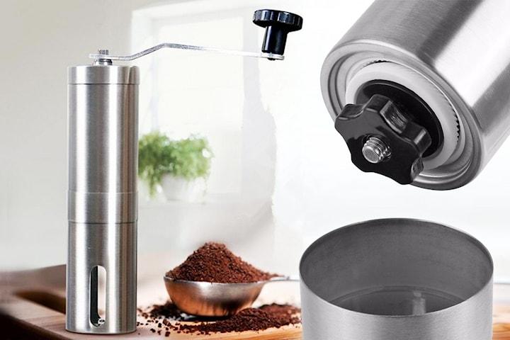 Manuell kaffekvern i rustfritt stål