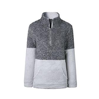 Mørkegrå, M, Fleece zip up pullover, God og varm fleecegenser, ,