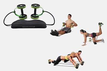 Set med träningsredskap