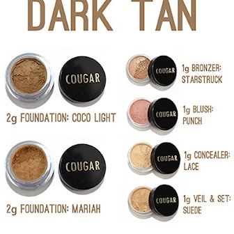 Dark tan, Mineral Makeup Kit 8-pcs, Mineralsmink-kit i 8 delar, ,