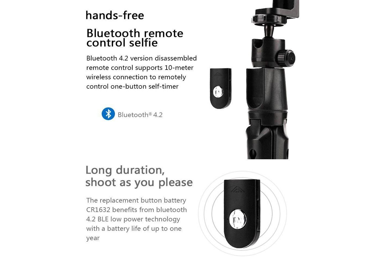 4-i-1 selfie-stick med eller utan tripod