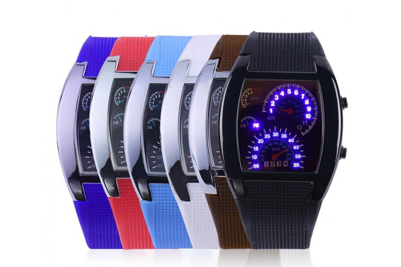 Klocka med häftig LED-design