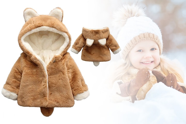 Teddy barnejakke