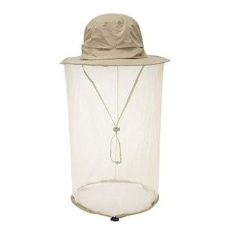 Beige, Fishing Hat Mosquito Net, Fiskehatt med myggnät, ,