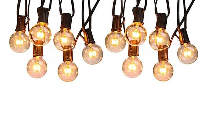 Vattentät ljusslinga 25 lampor