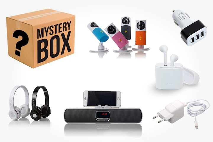 Mystery box med gadgets