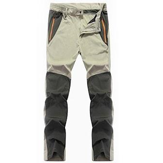 Khaki/Grønn, 4XL, Men's Outdoor Hiking Pants, Friluftsbukser til herre, ,