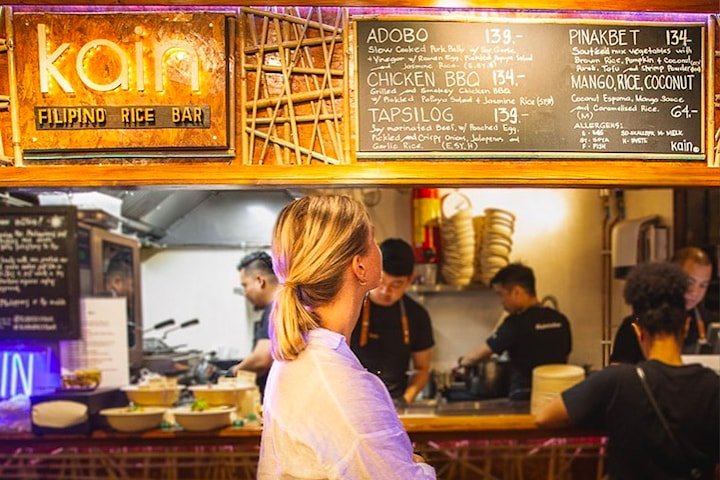 Fantastisk lunsj hos KAIN Filipino Rice Bar i Mathallen på Oslo Streetfood