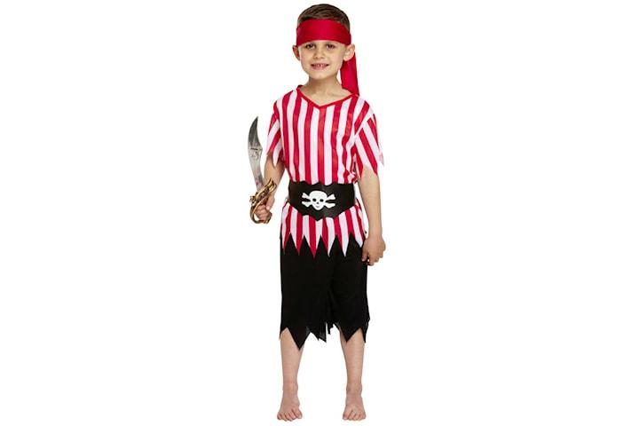 Pirat, Maskerad - Halloween - 7-9 år