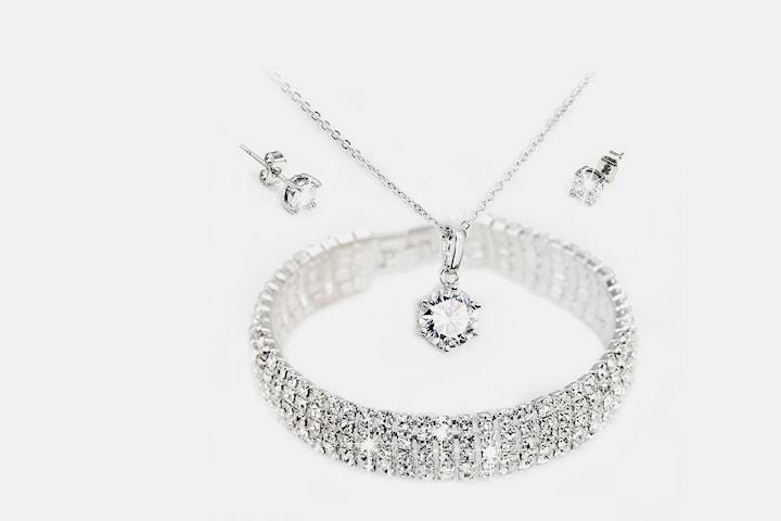Polaris smyckeset med Swarovski-kristaller