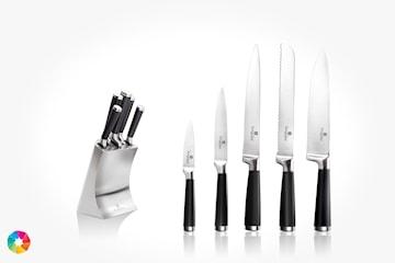 Berlinger knivset i 6 delar inkl. knivblock