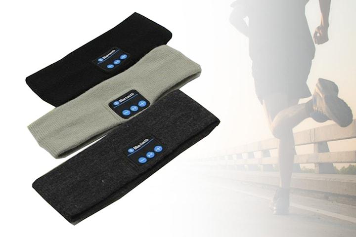 Pannband med Bluetooth-headset