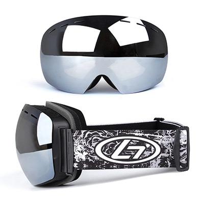 Silver, Mirrored Ski goggles, Skidglasögon med spegelglas,  (1 av 1)
