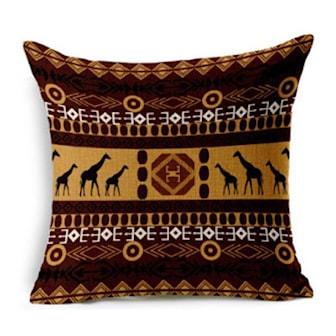 Brun/Beige, Cushion Cover African-style, Putetrekk med afrikansk mønster, ,