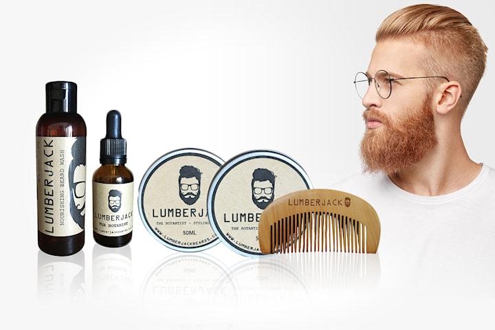 5-pack skäggprodukter från Lumberjack
