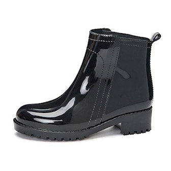 Svart, 34, Waterproof wellington rain boots, Lave gummistøvler, ,