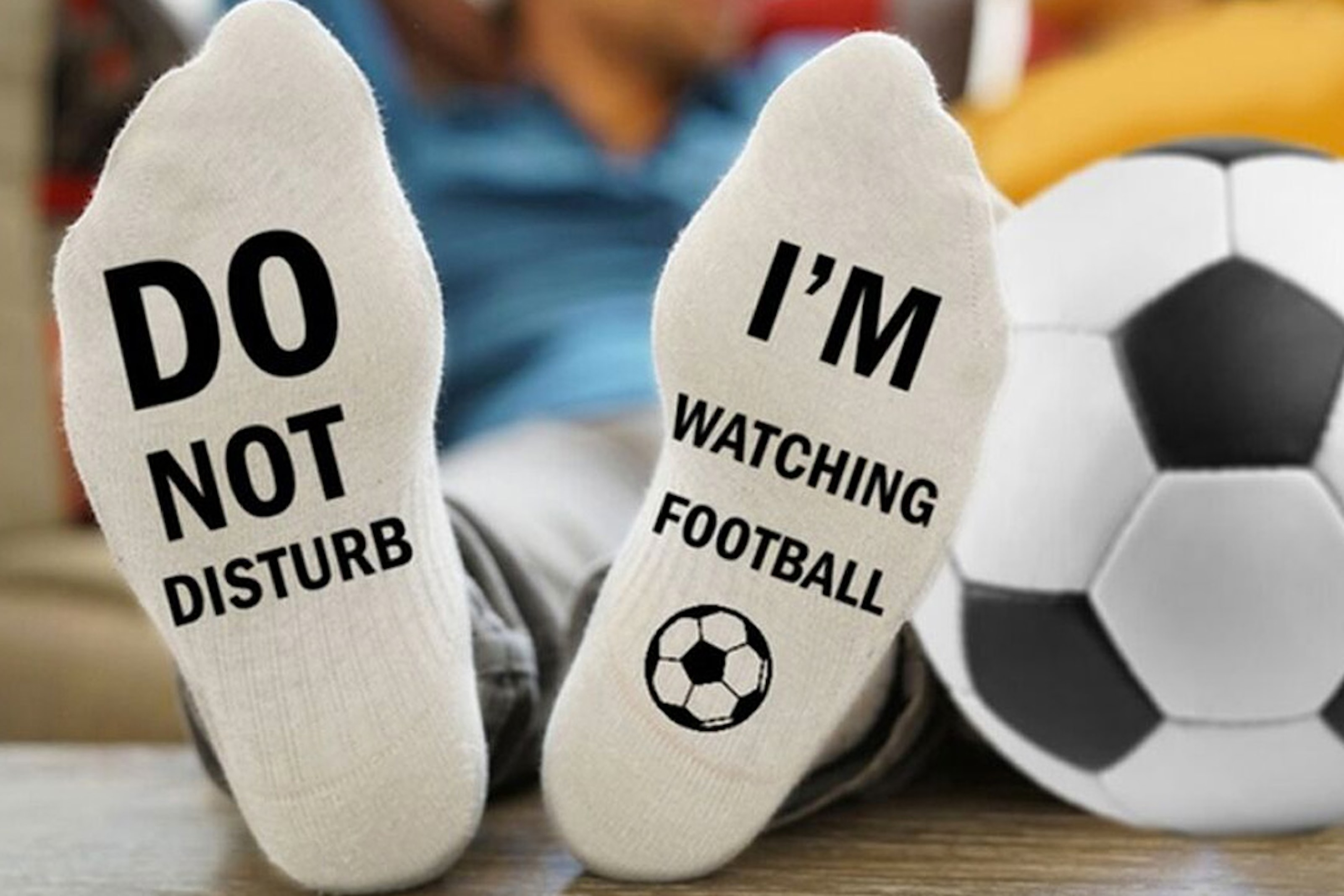Sokker: Do Not Disturb, I'm Watching Football, 1, 2 eller 4-par