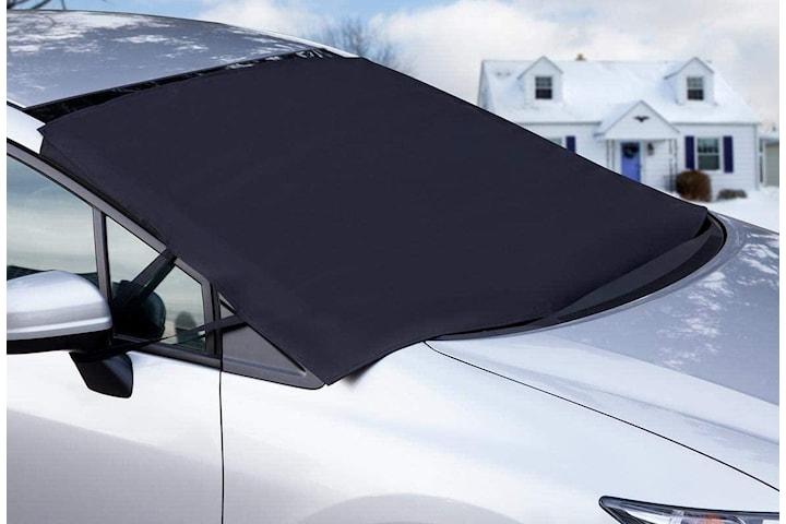 Snø- og solbeskyttelse for bilen 140x107cm, Svart