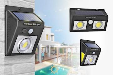 Vanntett solcellelampe med bevegelsessensor