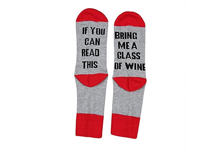 Sokker med artig tekst 2- eller 4-pack
