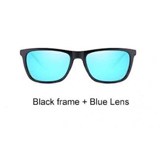 Black Frame + Blue Lens, Polarized UV400 Sunglasses, Polariserande solglasögon, ,