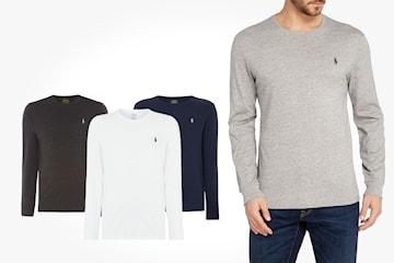 Ralph Lauren långärmad t-shirt i herrmodell