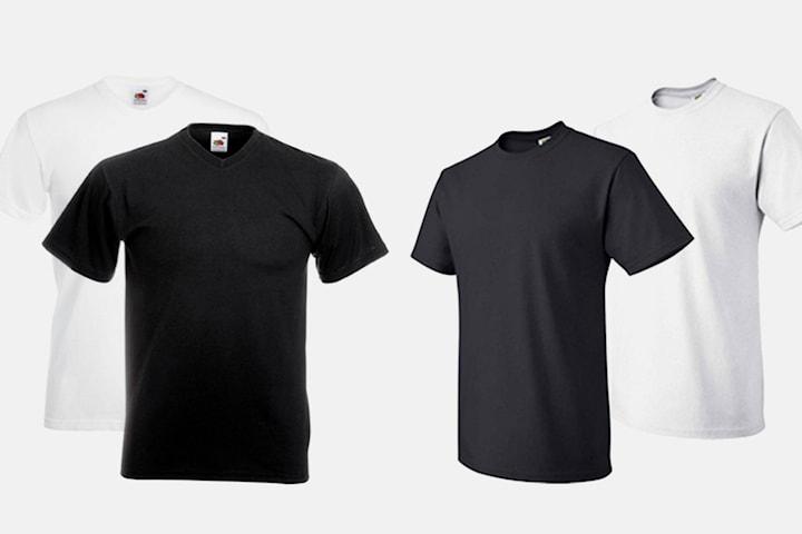 6-pack t-skjorter fra Fruit of the Loom