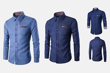 Jeansskjorta i herrmodell