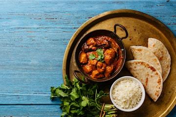 2-rätters indisk middag, take away eller ät på plats