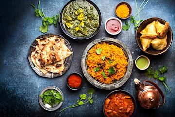Deilig indisk/pakistansk hovedrett hos New Shalimar Restaurant