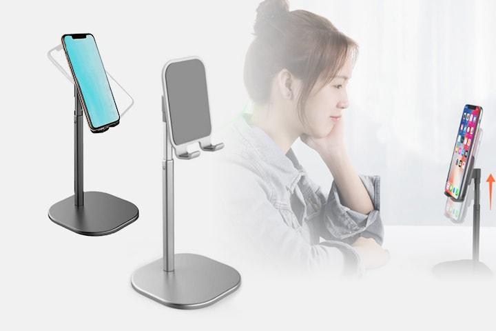 Justerbart stativ for mobil og nettbrett