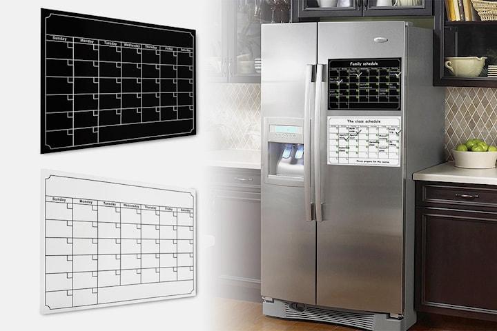Magnetisk kalender för kylen