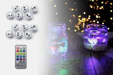 Dekorative LED-lys 12-pack