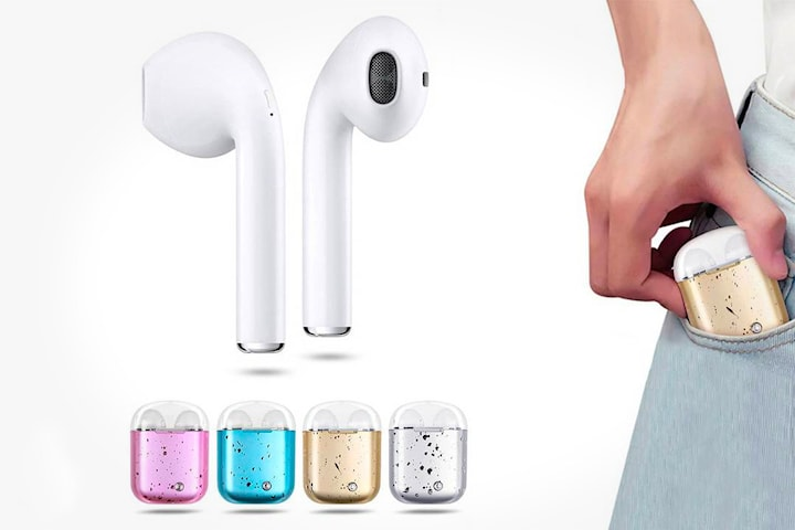 Trådløse Bluetooth in-ear hodetelefoner i7s TWS