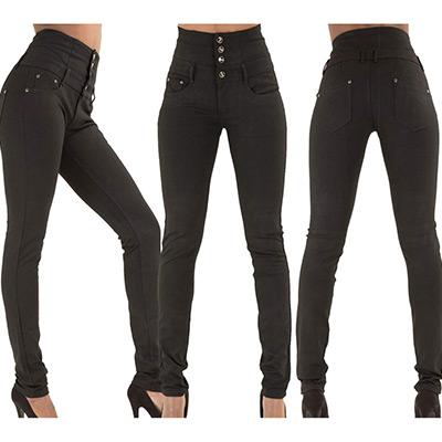 Svart, M, Jeans high elastic waist, Jeans med hög midja, ,  (1 av 1)
