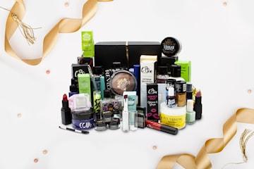 Mystery Box med skönhetsprodukter
