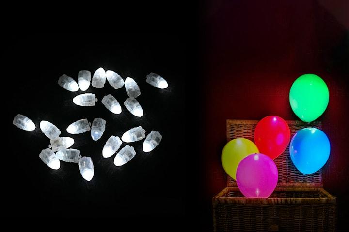 20 LED-lampor för ballonger