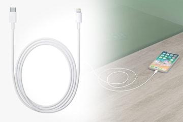 USB-C laddningskabel för lightning-kontakt