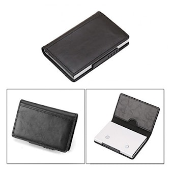 Svart, Card Holder With Button, Kortholder med pop-up knapp, ,