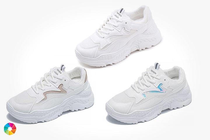 Hvite sneakers