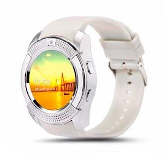 Silver, V8 bluetooth smartwatch, V8 aktivitetsarmband, ,