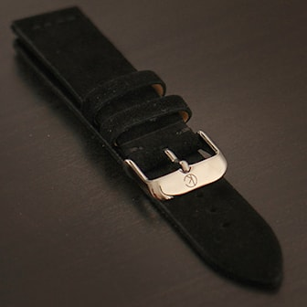 Svart, 22 mm, Cederkvist Suede Watchband, 5 Colors, Klockarmband i mocka, ,