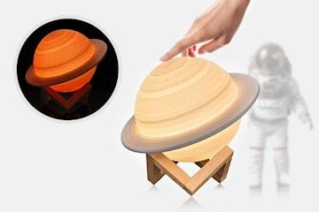 Nattlampe Saturn LED 3D
