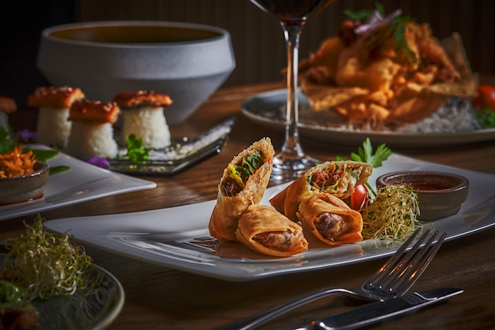 Nydelig 6-retters meny hos Foodie restaurant - kun 199 kr per person