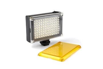 Portabel LED Kameralampa med 2x Färgfilter