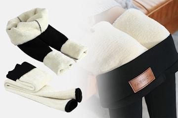 Leggings i fleece dame
