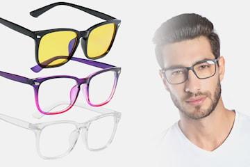 Briller med blått lysfilter