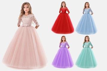 Barnklänning med tyllkjol